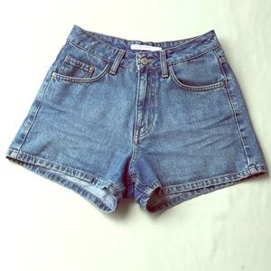Zara Trafaluc High Rise Denim Shorts